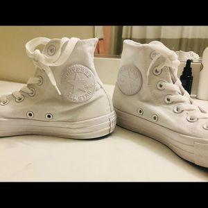 Converse Shoes - Converse all star high tops chucks white 6.5